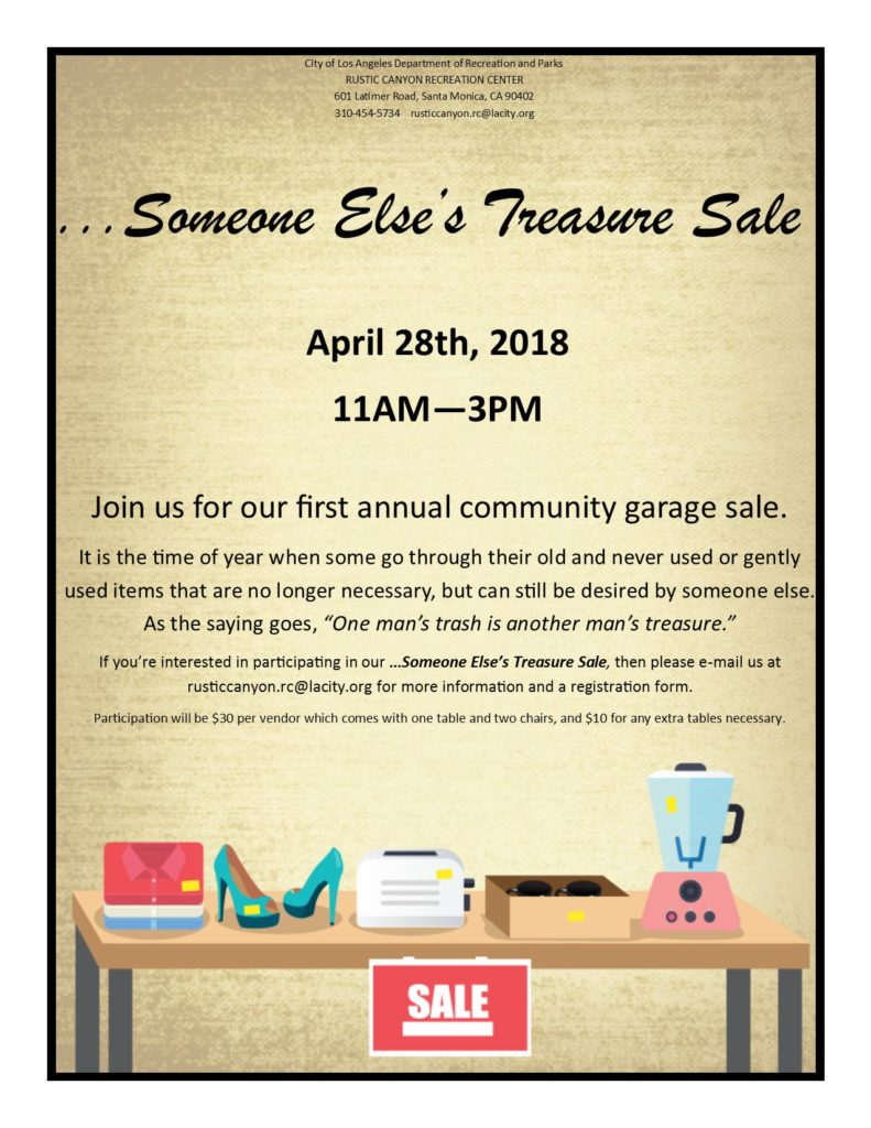 Rustic Canyon Park To Host Garage Sale Saturday Palisades News